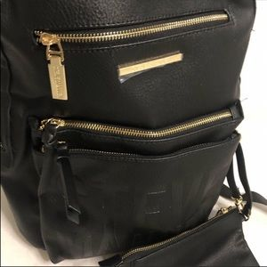 Steve Madden black NWT backpack with pouch